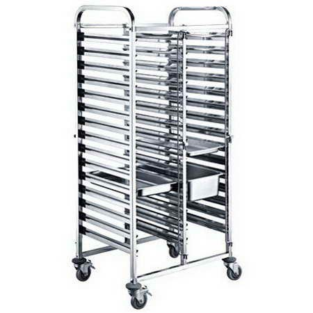 Stainless Steel Gastronorm Trolley TT-SP278D - Main View