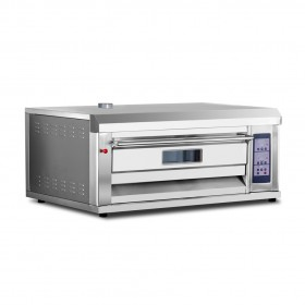 1 Deck 2 Trays 350°C 75W All S/S Professional Gas Baking Oven TT-O38B
