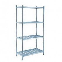 4 Tiers L1500XW600 MM Stainless Steel Punching Shelving TT-BC313E