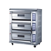 Electric Baking Oven - 3 Decks 6 Trays, All S/S, 350 ℃, Pan 40*60 CM, CE, TT-O39F